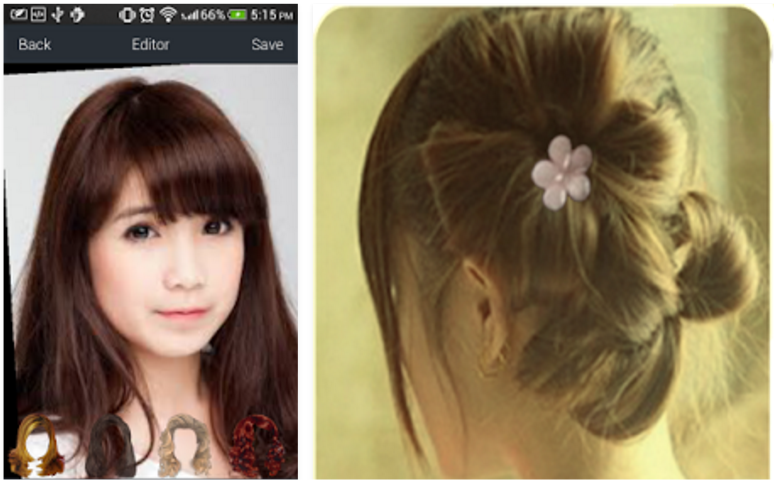 Best Virtual Hair Styler Apps For Android Protractor - Hairstyle on you app
