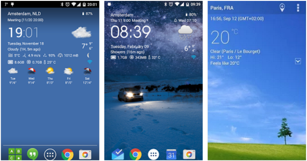 8 Best Weather Widgets For Android | Protractor